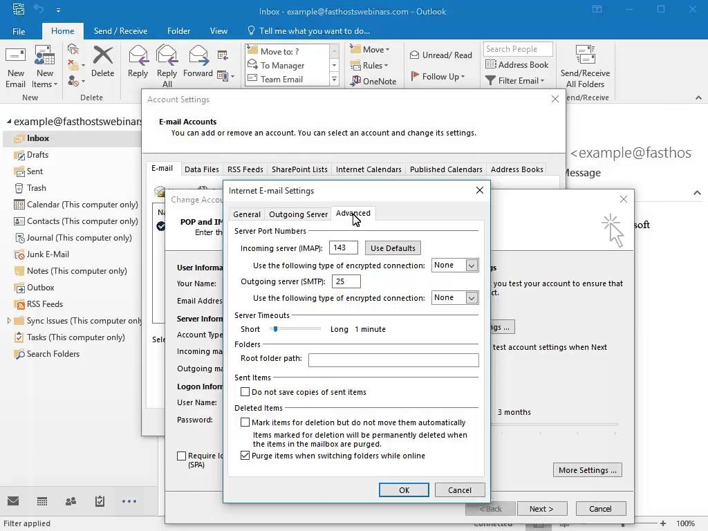 How To View Account Settings In Outlook 2016 Where can I