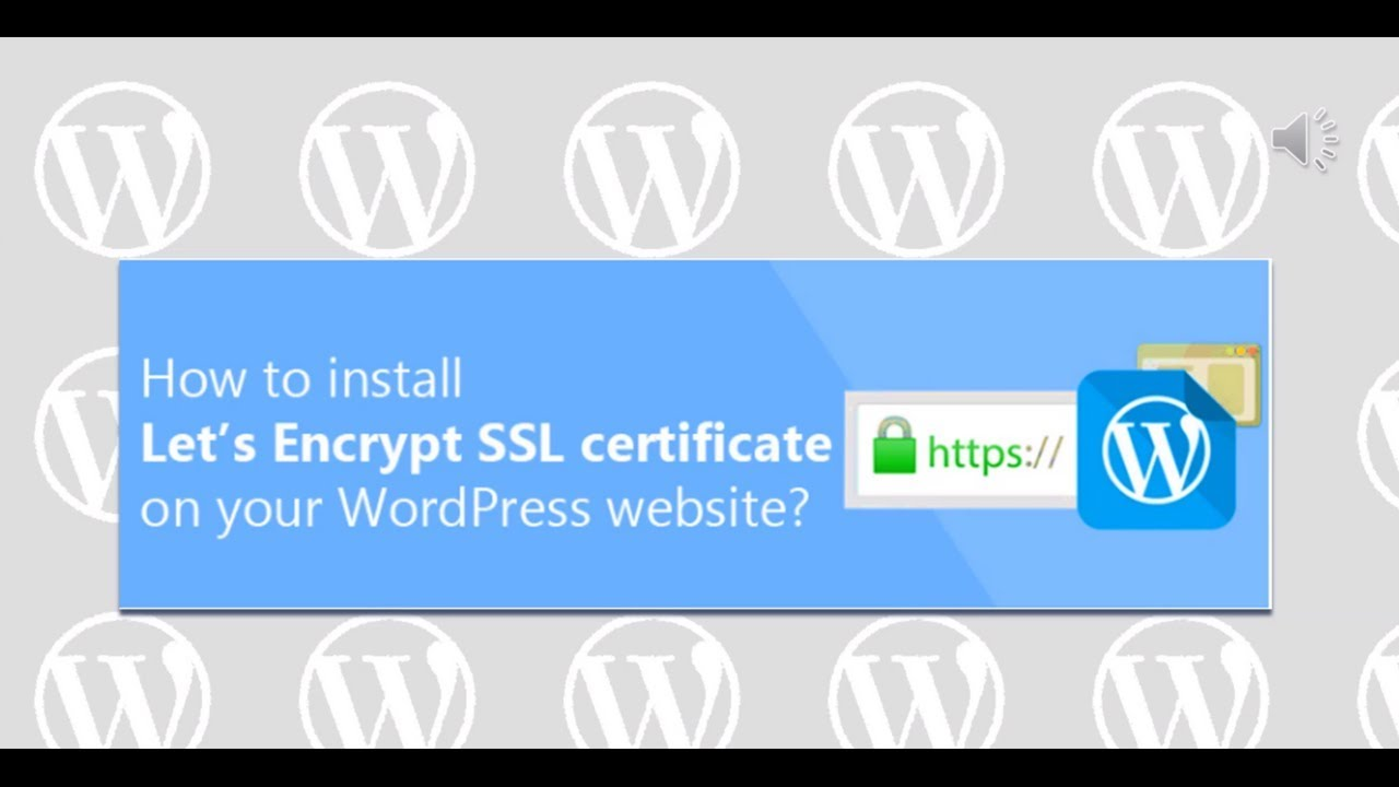 How to install a free SSL certificate on your WordPress
