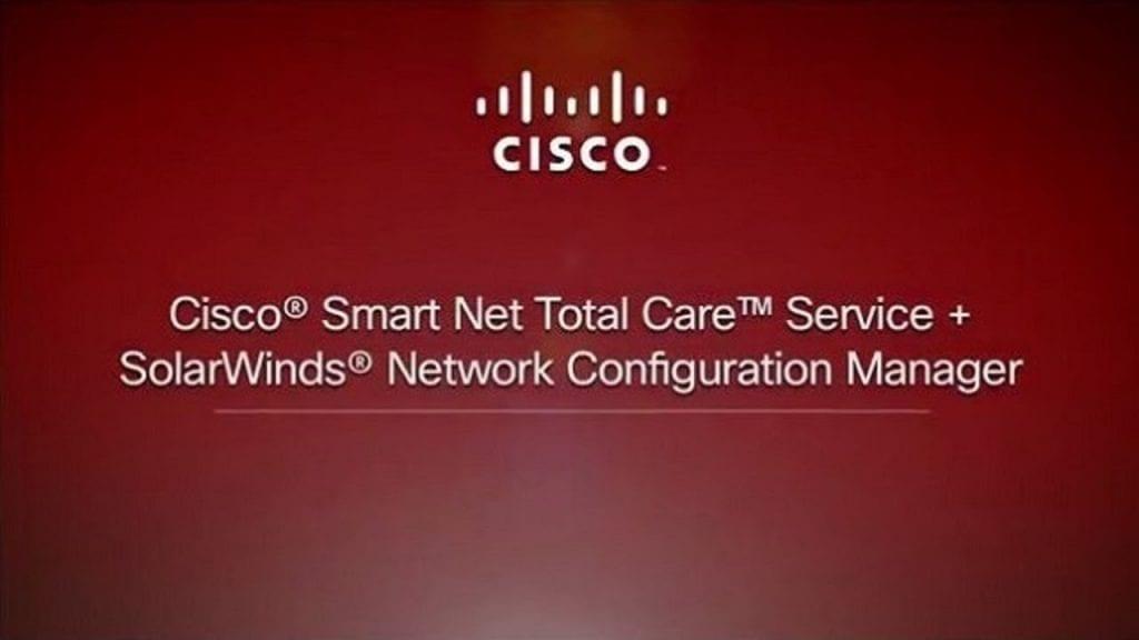 Cisco Smart Net Total Care: SolarWinds Collector - Hosting