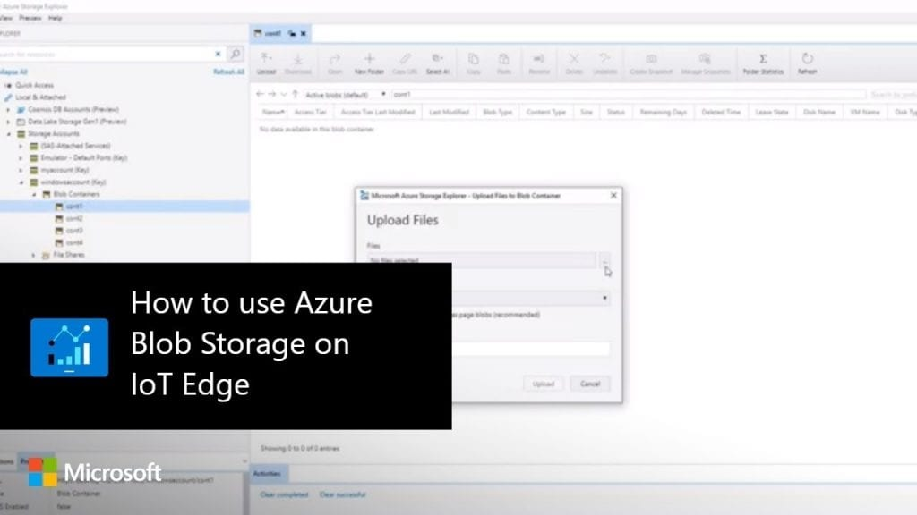 How to use Azure Blob Storage on IoT Edge - Hosting