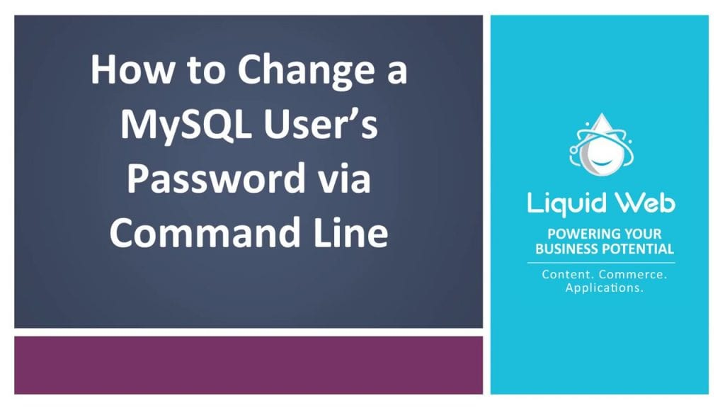 Change A Password For Mysql On Linux Via Command Line Internet